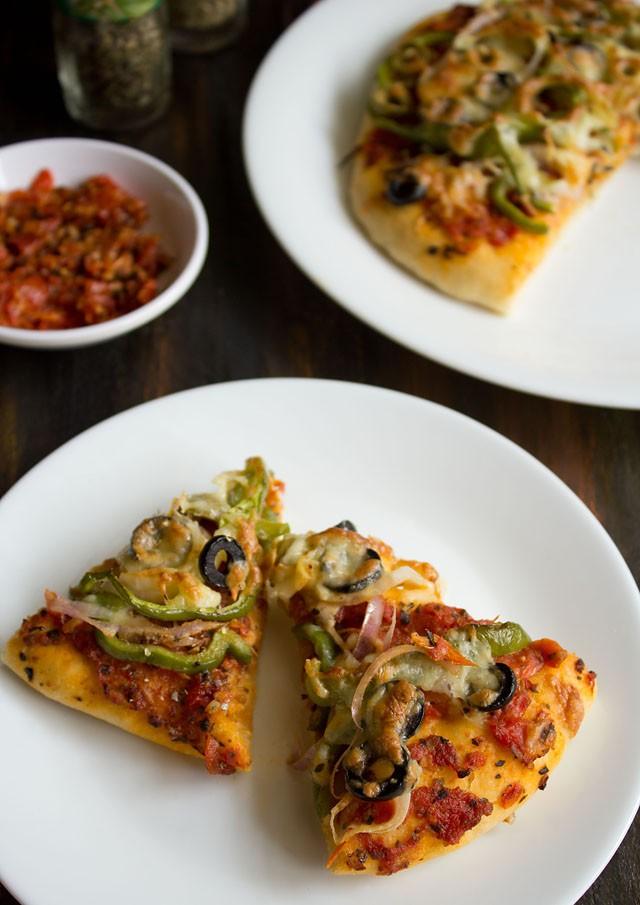 veg pizza recipe from scratch