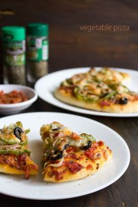 pizza recipe, how to make pizza recipe | homemade veg pizza recipe
