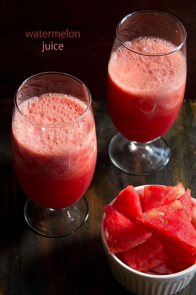 watermelon juice recipe, how to make watermelon juice recipe