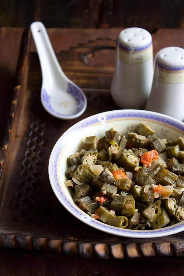 goan style okra: goan style okra recipe