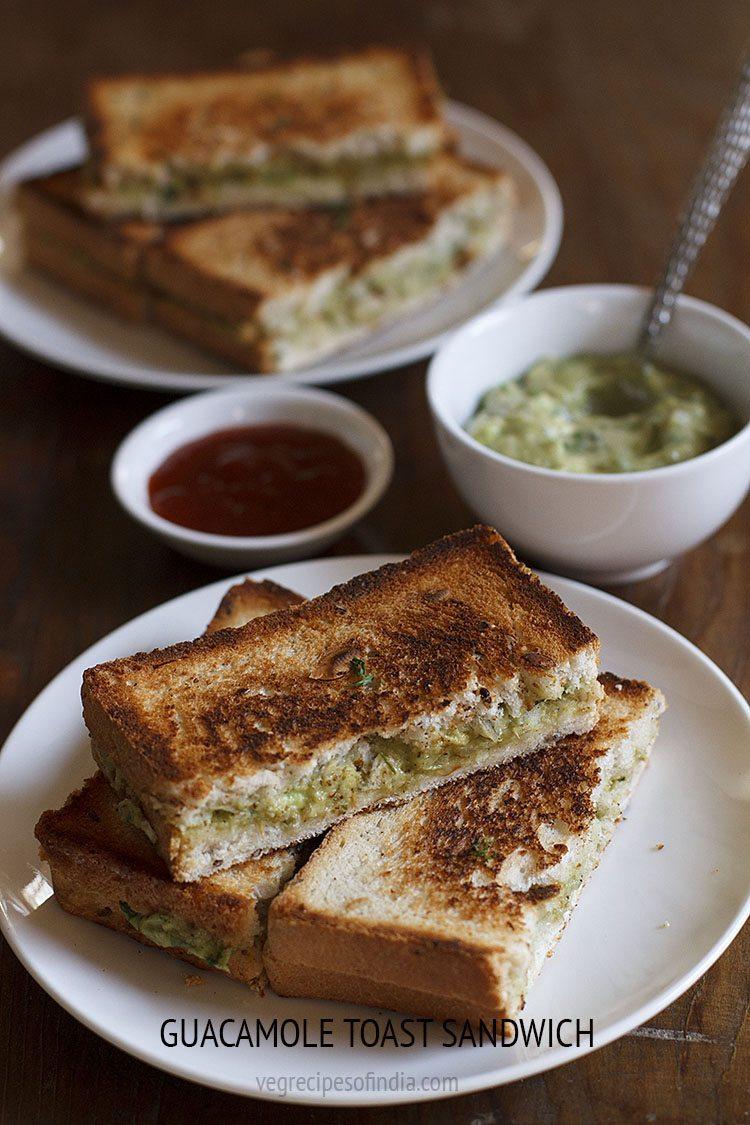Guacamole Toast Sandwich Recipe How To Make Guacamole