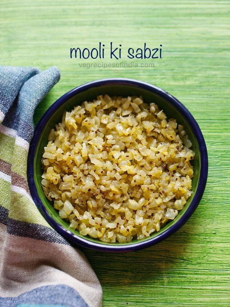 mooli ki sabzi recipe, mooli bhurji