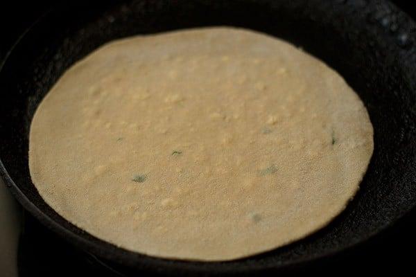frying - paneer paratha recipe