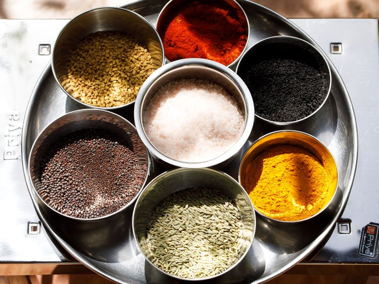 spices and salt in sunlight