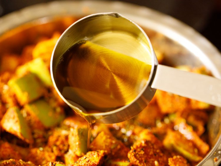 adding ½ cup mustard oil