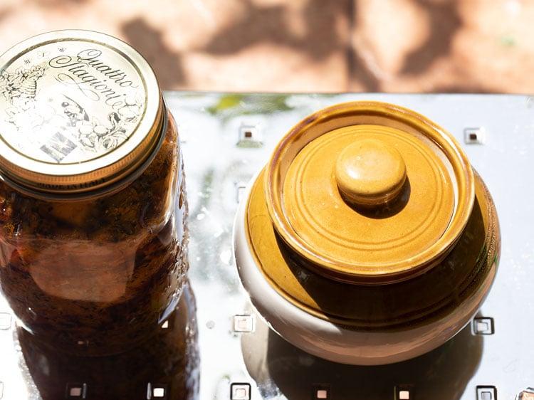 jars kept in sunlight
