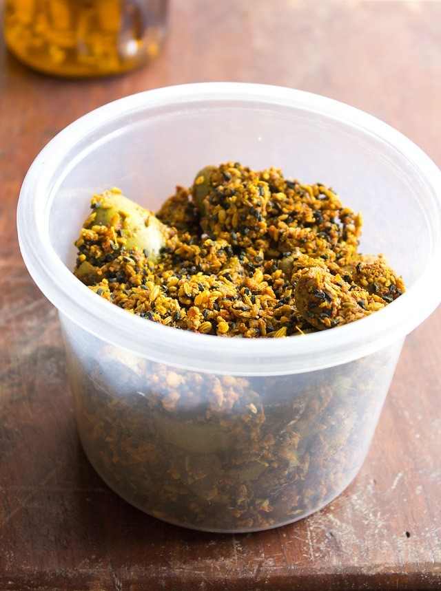 in jar - punjabi mango pickle recipe