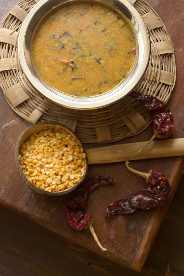 red-amaranth-chaulai-sambar
