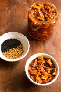 sweet and sour mango pickle: punjabi sweet and sour mango pickle