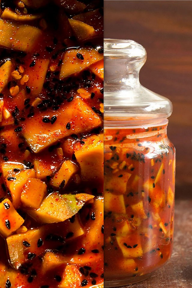 sweet sour punjabi mango pickle