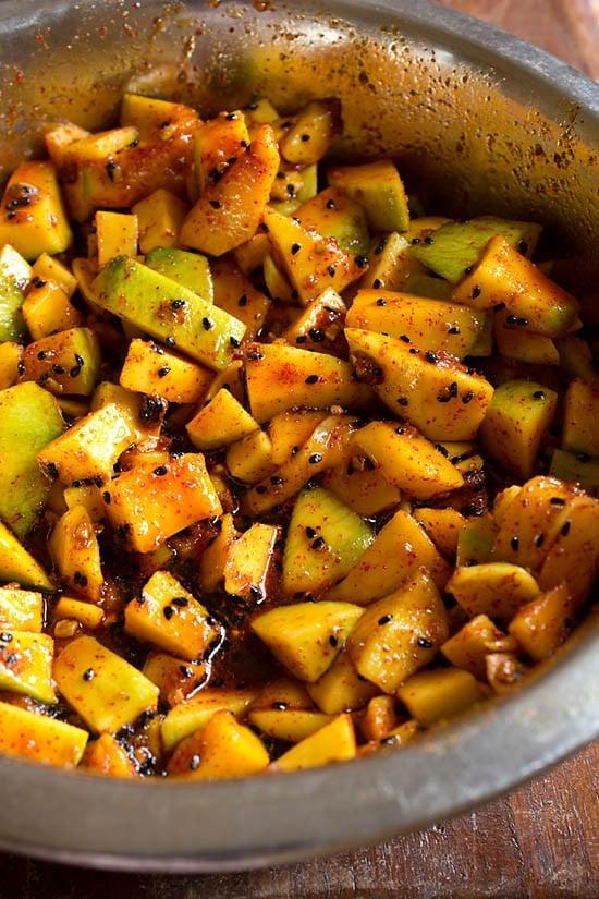 mix mango pickle mixture