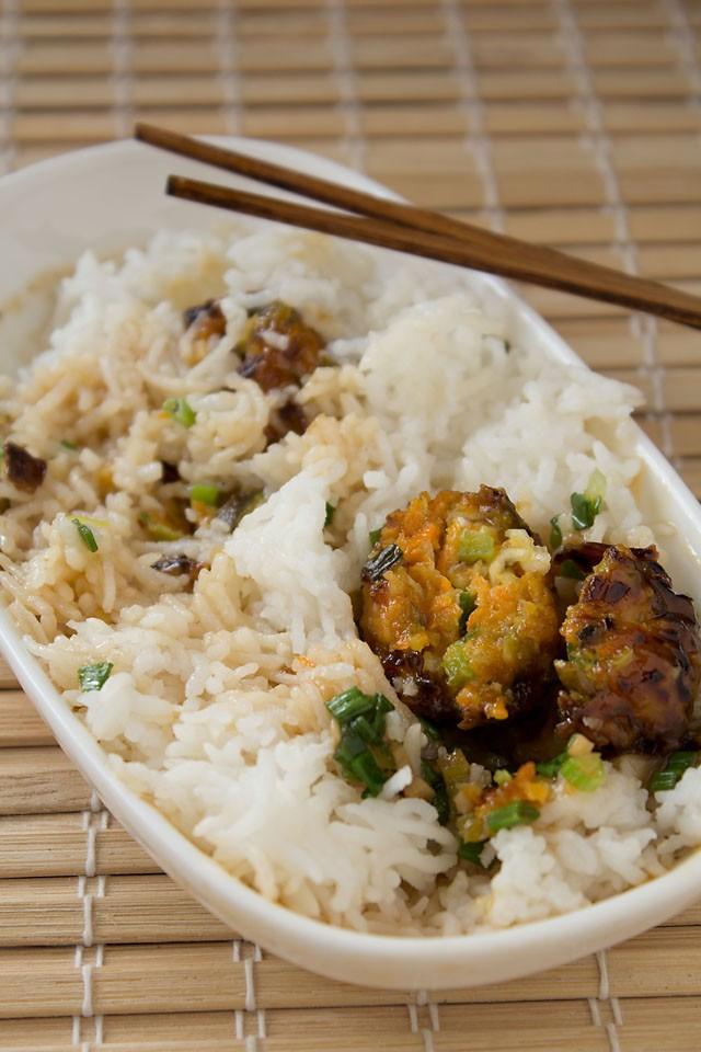 veg manchurian with rice