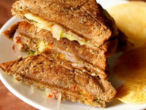 Image result for Toast Veg. Sandwich