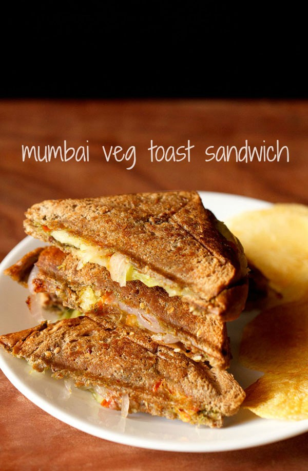 bombay veg toast sandwich recipe, how to make vegetable toast sandwich