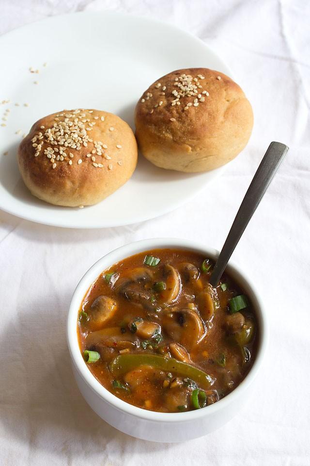 indo chinese chilli mushroom