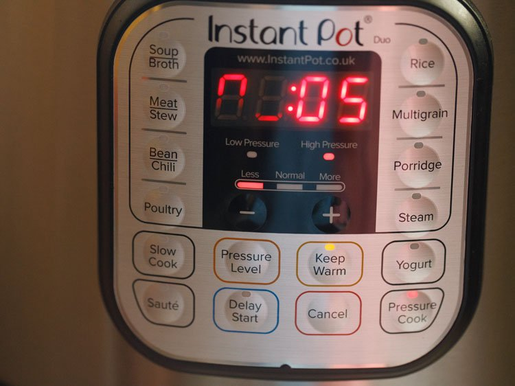 setting instant pot