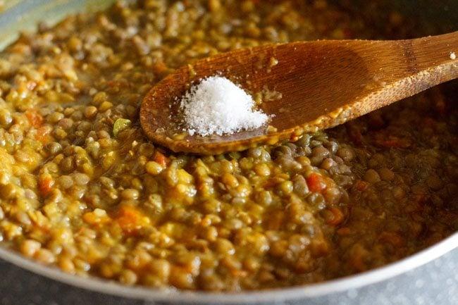 making sabut masoor dal recipe
