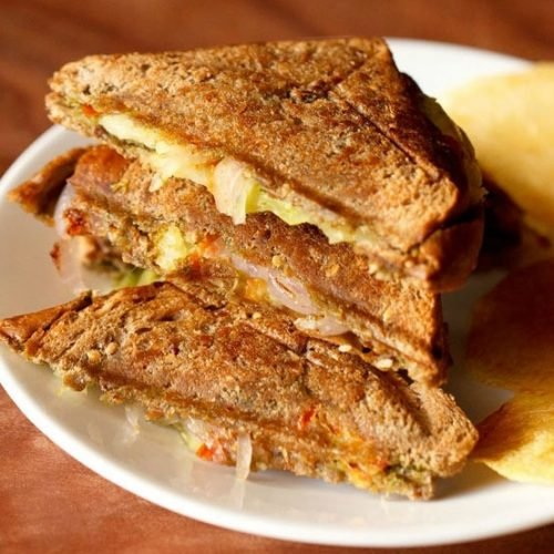 veg toast sandwich recipe, bombay vegetable toast sandwich recipe