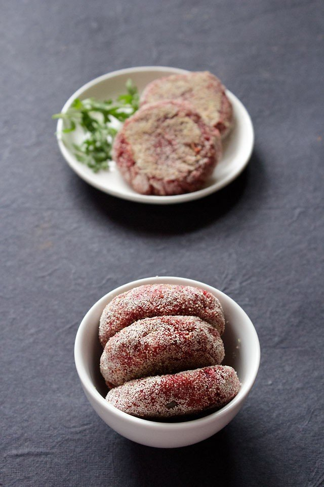 beetroot tikki recipe, beetroot patties recipe
