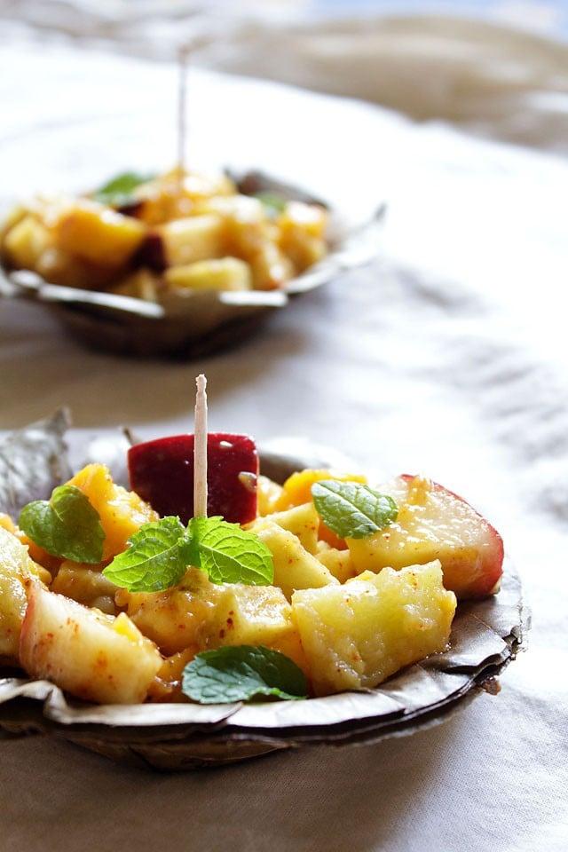 fruit chaat delhi chaat