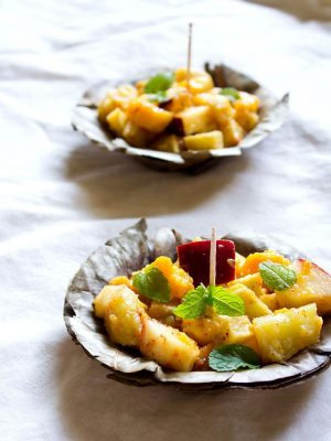 fruit chaat recipe, how to make fruit chaat