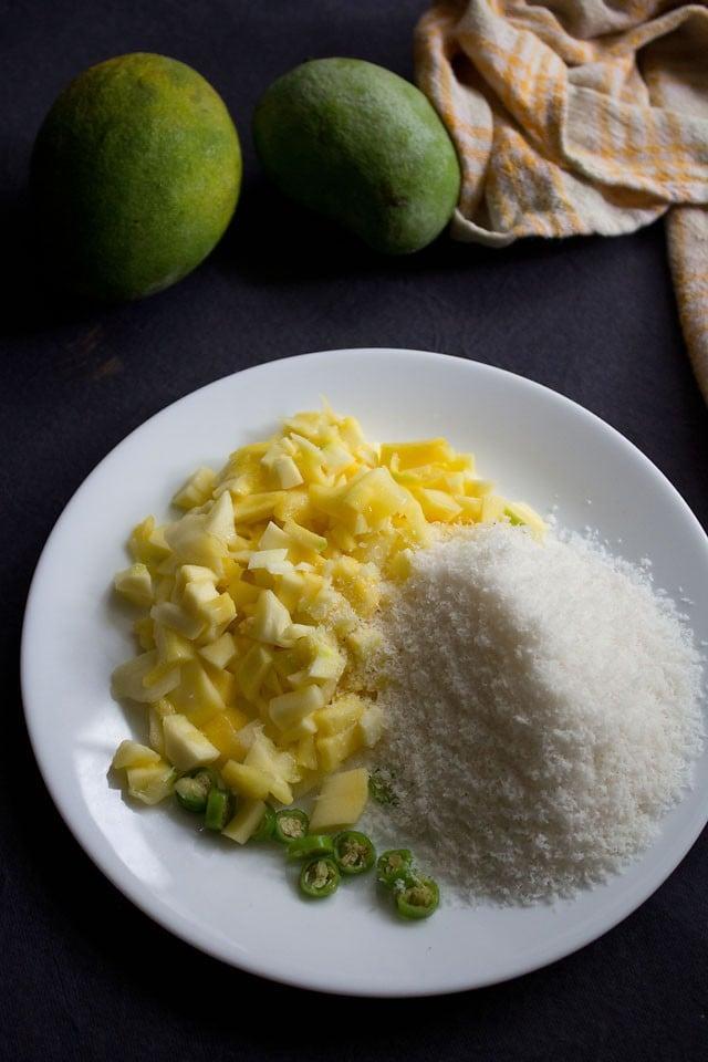 ingredients for mango chutney