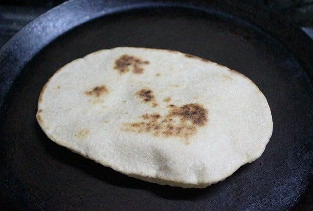 making whole wheat pita bread