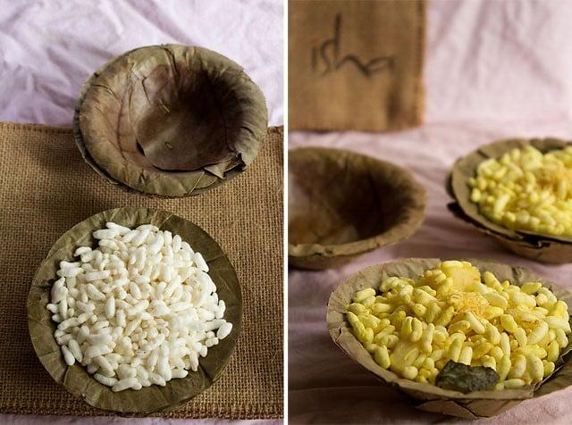 murmura chaat - spiced puffed rice