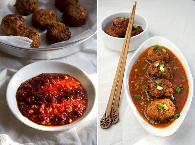 veg balls in hot garlic sauce recipeindo chinese veg recipes