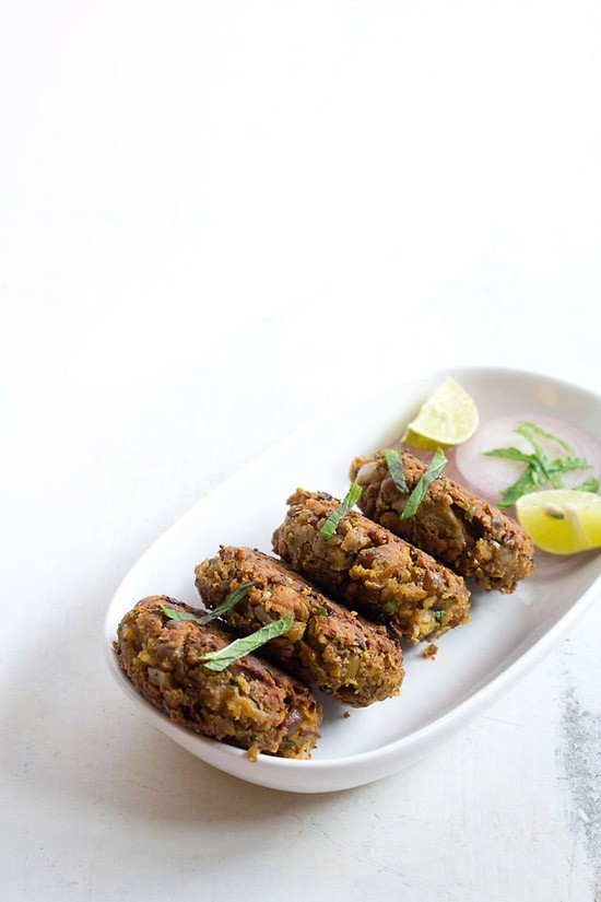 vegetarian shammi kabab recipe