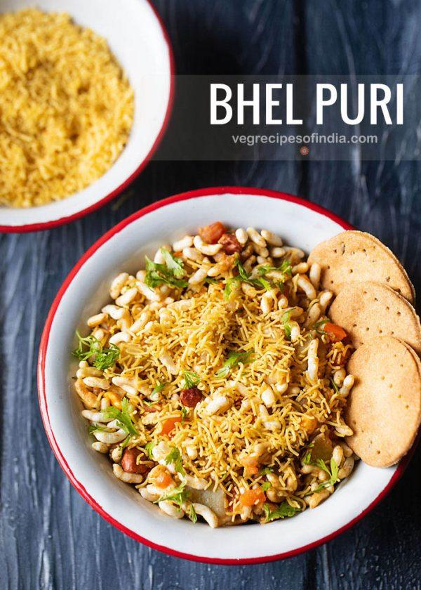bhel puri recipe, how to make bhel puri | bhelpuri recipe