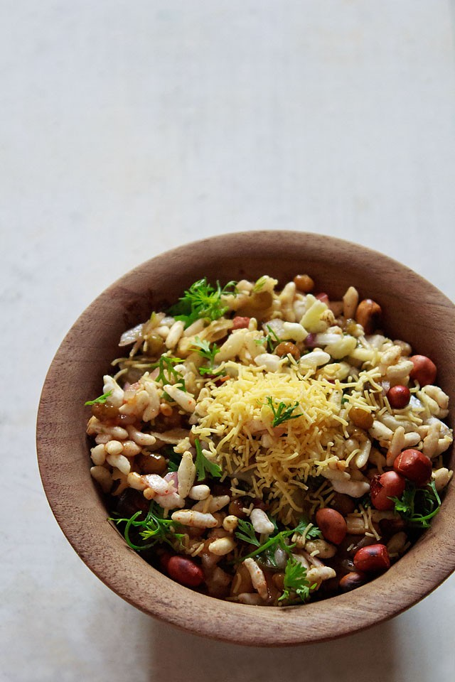 bhel puri recipe, bhel puri
