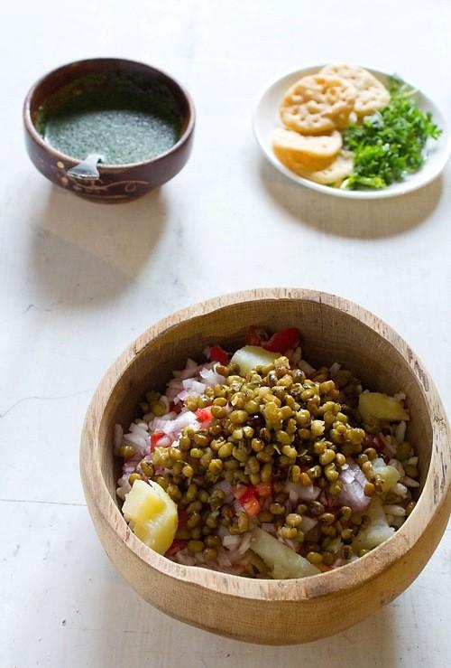 moong for bhel puri recipe