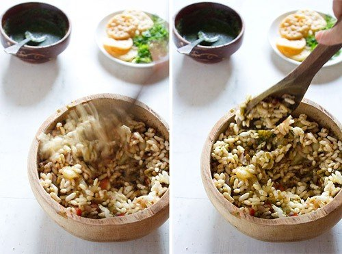 mixing - bhel puri recipe