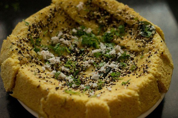 tempering - khaman dhokla recipe