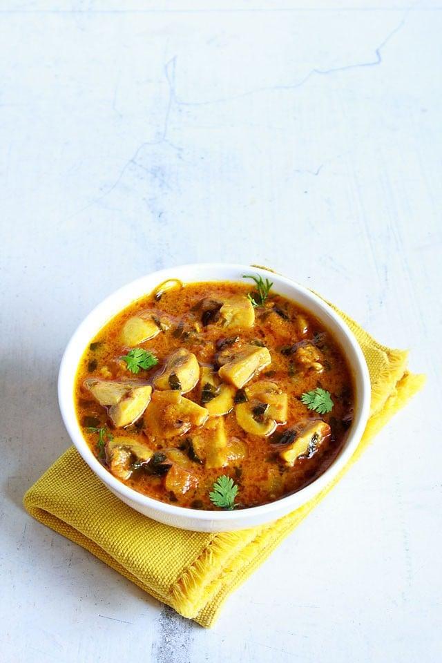 methi mushroom recipe