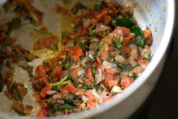 cooking mushroom biryani masala