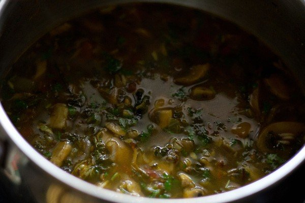 mushroom biryani, south indian mushroom biryani, kalaan biryani