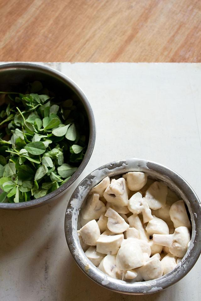 mushrooms for methi mushroom recipe