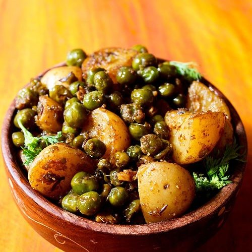 Baby Potato Recipe With Green Peas Dry Aloo Matar Sabji