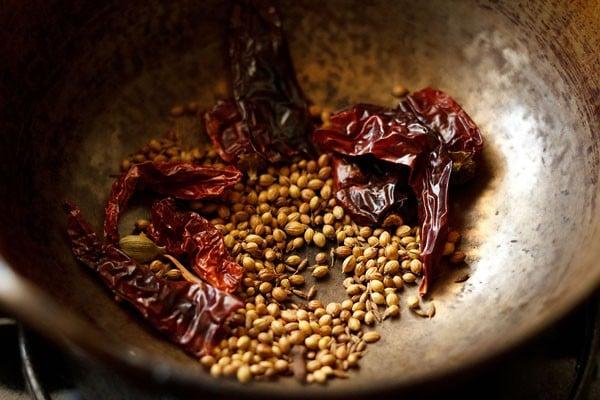 spices for kadai mushroom recipe