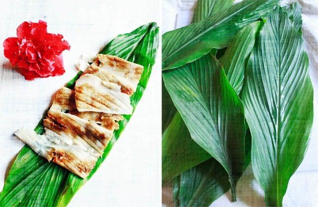 patholi & turmeric leaves