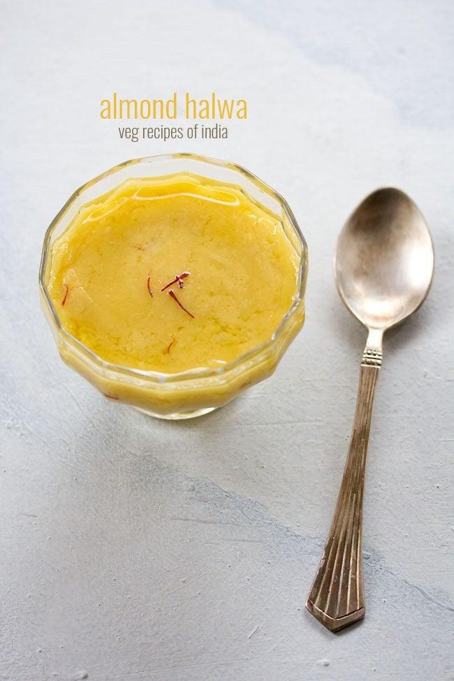 badam halwa almond halwa recipe