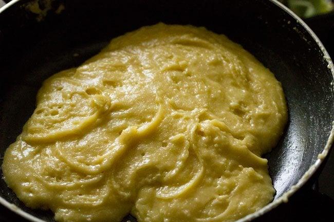 badam halwa recipe, almond halwa recipe