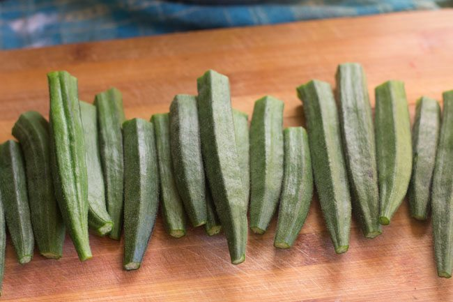 bhindi without head and tail