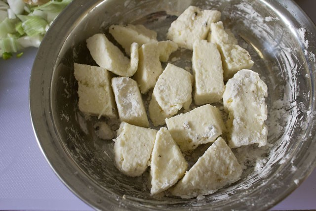 paneer pieces for chilli paneer recipe