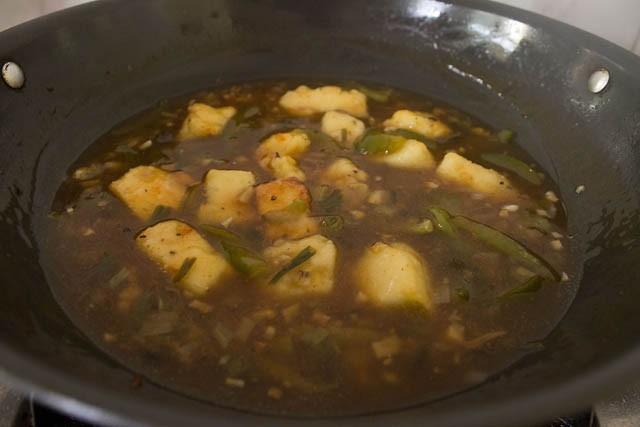 recipe of chilli paneer gravy