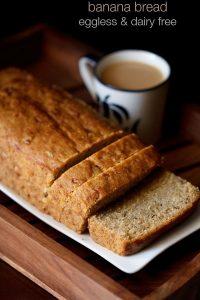 eggless banana bread recipe, how to make vegan banana bread recipe