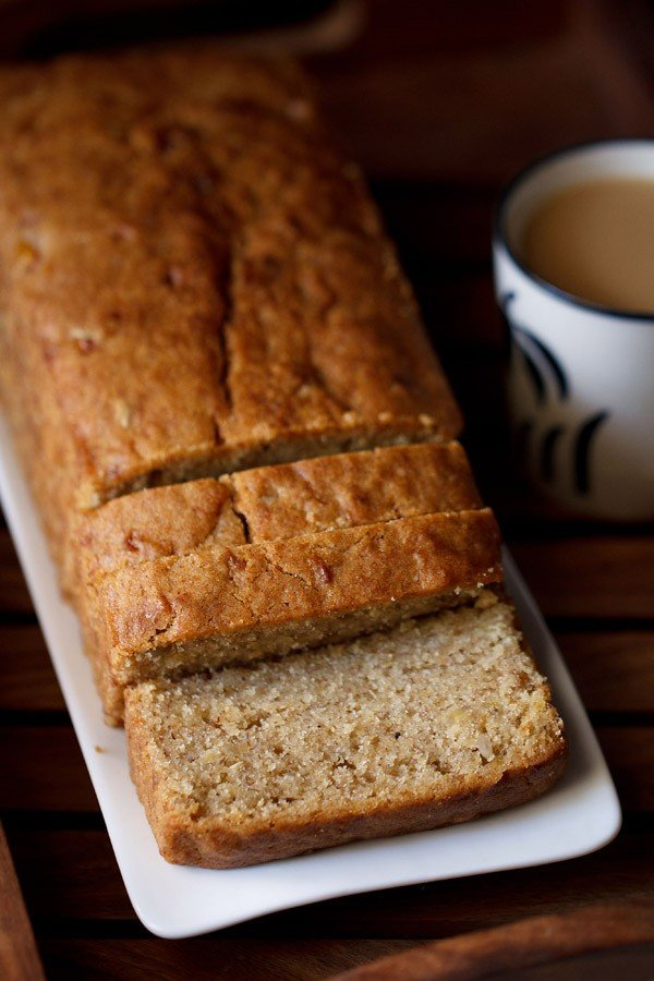 eggless banana bread recipe, banana bread recipe, vegan banana bread recipe