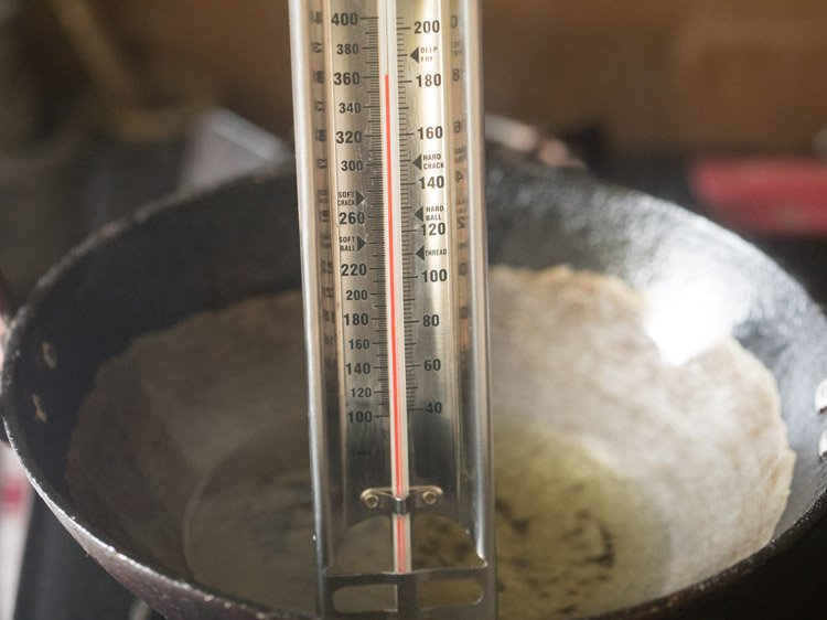 oil at 180 degrees Celsius for second frying